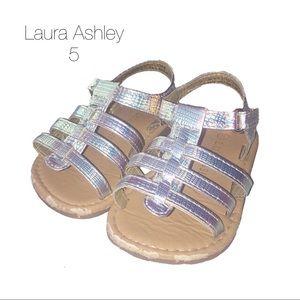 Laura Ashley Holographic Iridescent Sandals 5